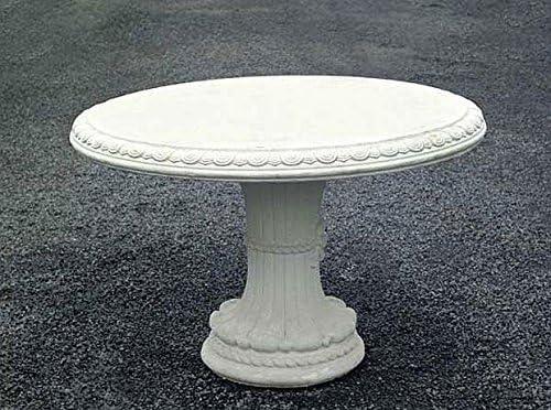 Mesa, piedra mesa, mesa de jardín Ø 125, weissgrau: Amazon.es: Jardín