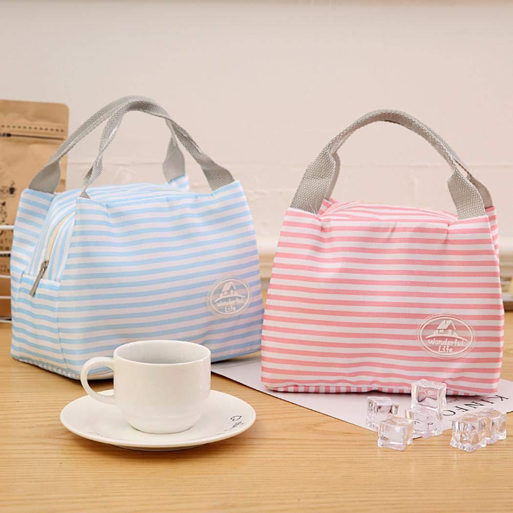 Amilses Isolierte Thermal Cooler Lunch Bag Pouch Picknick Aufbewahrungsbox Brotdosen /& Wasserflaschen