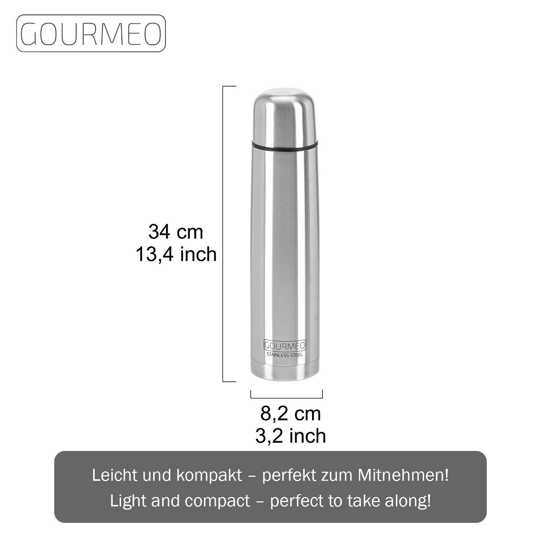 GOURMEO Isolierflasche aus rostfreiem Edelstahl 1,0 l