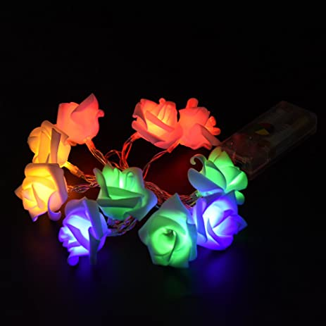 datingday 12m 10 led rose flower fairy string lights lamp for indoor outdoor decoration christmas