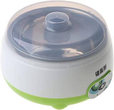NOWON M/áquina autom/ática para Hacer Yogurt de 220V 1L con 3 tarros de Vidrio para envases de Yogur de 100 ml