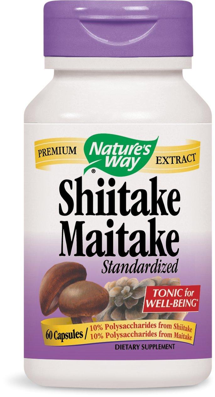 Nature's Way Shiitake and Maitake, 60 Capsules