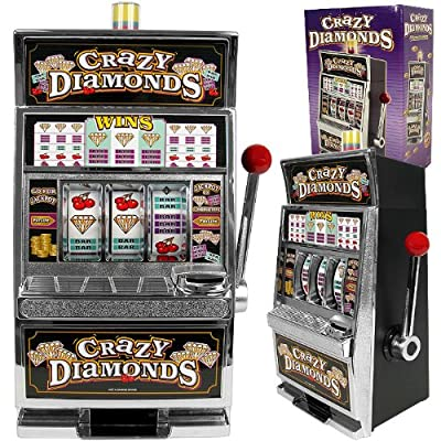 Crazy Diamonds Table Top Slot Machine Bank - Includes Bonus Deck of Cards! : Baby