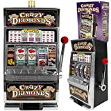 Replica Crazy Diamonds Mini Slot Machine Bank - 15 Inches Tall!