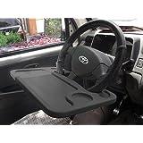 Lifestyle-You™ Multifunctional Car Laptop Food Steering Wheel Tray Drink Holder Desk (Black)