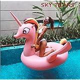 ce3eac642da4 SKY TEARS Unicorno Gonfiabile, Gonfiabile Unicorno Piscina Galleggiante  Adatto per Bambini e Adulti Giocattolo in