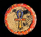 Violet Flame Orgone ~ Orgonite Ankh Charging Plate ~ EMF Protection Cleansing Plate