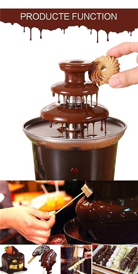 GRASSAIR Mini Fuente de Chocolate/3 gradas TrayChocolate derretir con la máquina de la Fondue de la calefacción para los niños Regalo/Grande para los ...