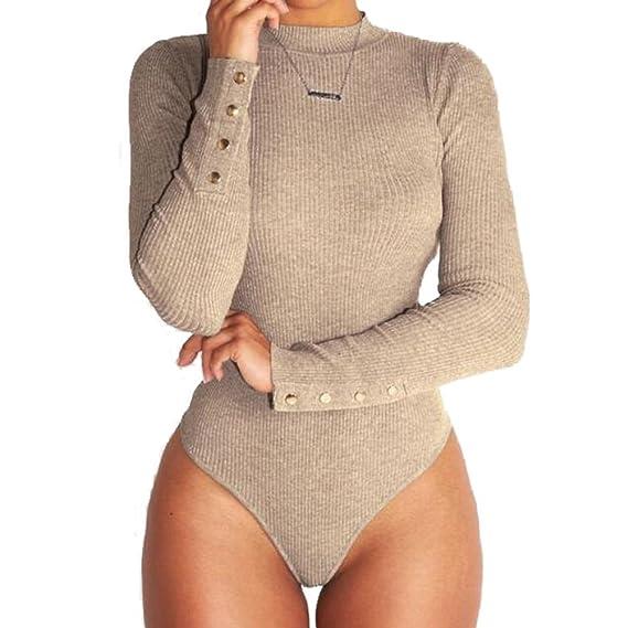Inlefen Mujeres Sexy Body Solo Body Body Slim Body Slim Body Tuta in Jersey  leotardo 0ec5382e6a2