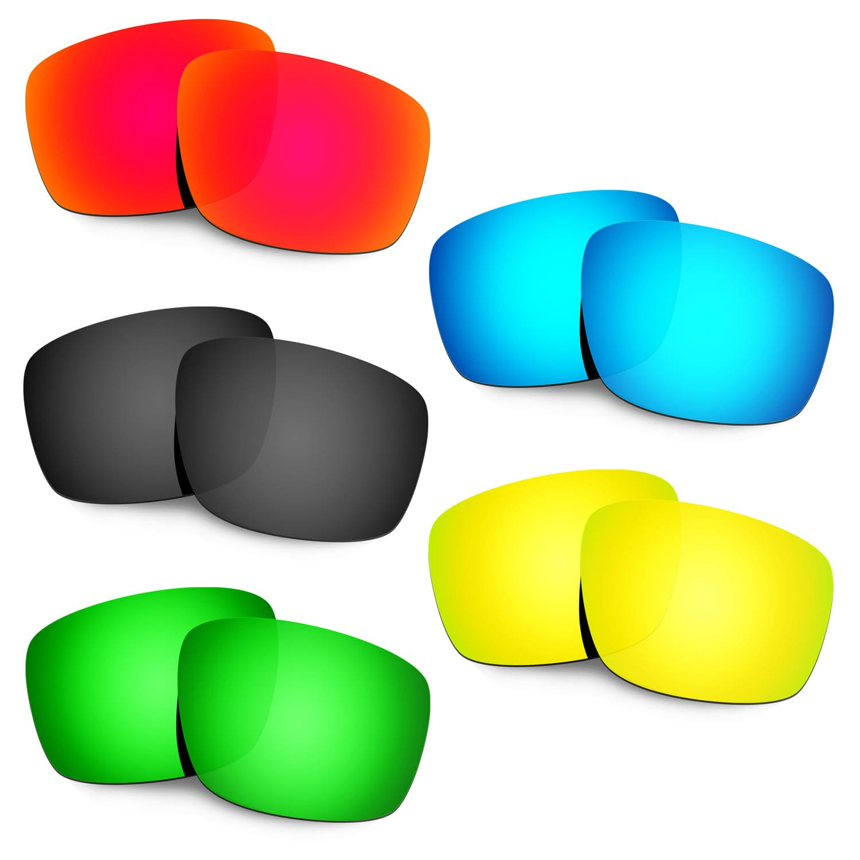 Hkuco 交換用レンズ Oakley Mainlink Sunglasses  Red/Blue/Black/24K Gold/Emerald Green B077DG61H6