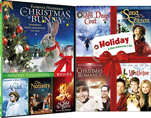 Spirit Romance Holiday Films - The Christmas Bunny, Littlest Angel, The Nativity, A Child is Born & What I Did for Love / Sons of Mistletoe / A Song For Season Traditional Favorites DVD Bundle (Evergreen Hearth & Home)