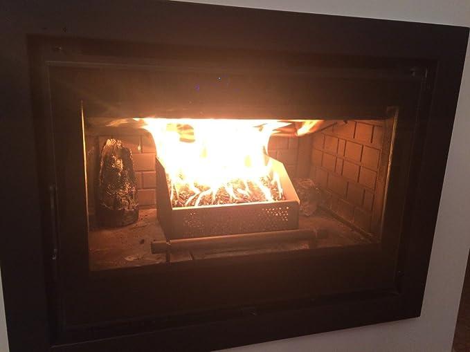 Cesta o cestillo quemador de pellets para quemar pellet en Chimeneas de Leña: Amazon.es: Hogar