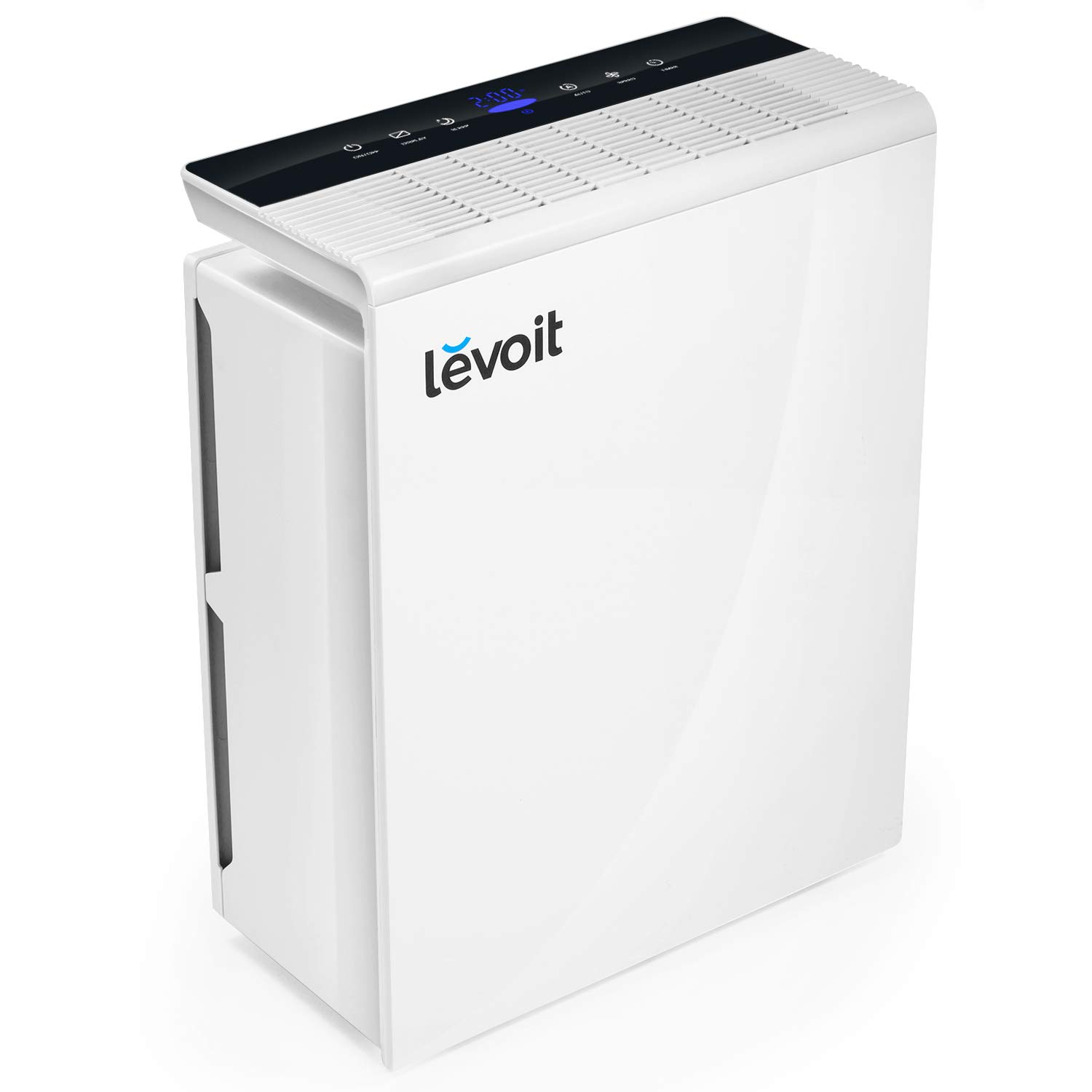 LEVOIT Air Purifier for Home with True HEPA Filter, Air Cleaner for Large Room, Allergies, Pets, Smokers, Smoke, Dust, Odor Eliminator, Air Quality Monitor, Energy Star, 2-Year Warranty, LV-PUR131