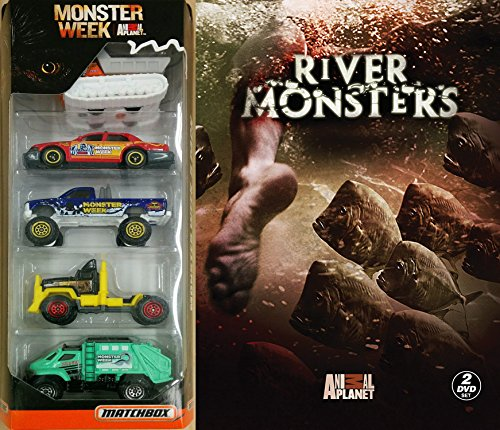 Monster Week: River Monsters DVD & Matchbox Monster Week Exclusive Animal Planet Channel 5 car Special Edition set TV series Set