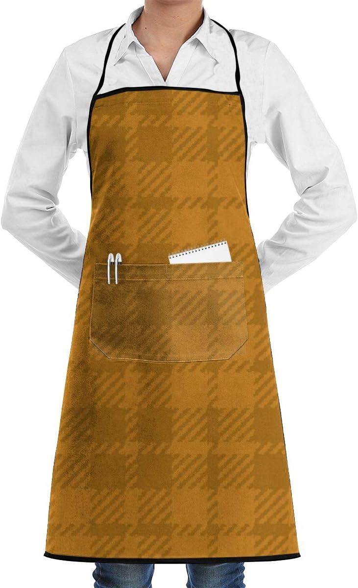 Liliylove - Delantal de Cocina Ajustable con Bolsillo, diseño de Calabaza y Colmena de palaka para cocinar, Hornear, Hacer Manualidades, jardinería, Barbacoa
