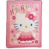 Pink Hello Kitty Micro Raschel Throw Blanket