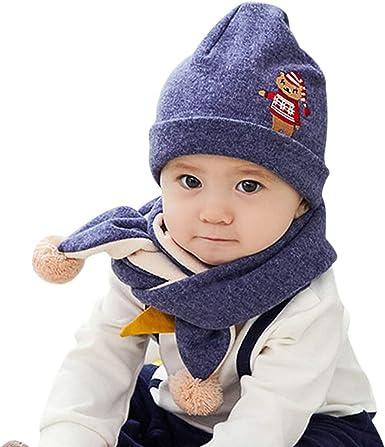 DORRISO Kids Baby Hat Girls Boys Cap Cute Neck Protection Set Head Hooded with Gloves Set Autumn Winter Windproof Warm Hat Children Hats