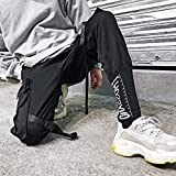 MOKEWEN Men's Cargo Pocket Ankle Band Tapered