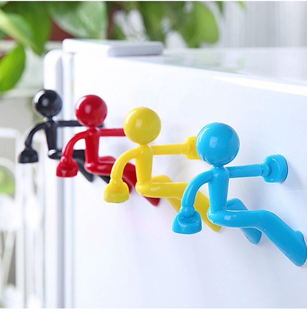 2Pcs/4Pcs Strong Magnetic Key Holder Hook Keys Magnet Magnetic Key Holder with Wall Climbing Man Design for Home Car Ultra Strong Magnet Magnetic Key Holder (4pcs) Gadgets Mall