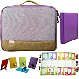 """Canon Selphy CP910 Portable Wireless Compact Photo Color Printer Accessory Bundles(Selphy CP910 Printer Case/ 4""""x 6"""" Book Album/ Colorful 4""""x 6"""" Photo Frame/ Colorful 4""""x 6"""" Wall Decor Hanging Frame) (Purple)"""