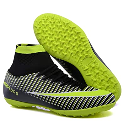 21e526cd27a FCSHOES Turf Indoor Boys Girls Soccer Shoes Kids Cleats Training Football  Boots High Ankle Sport Sneakers