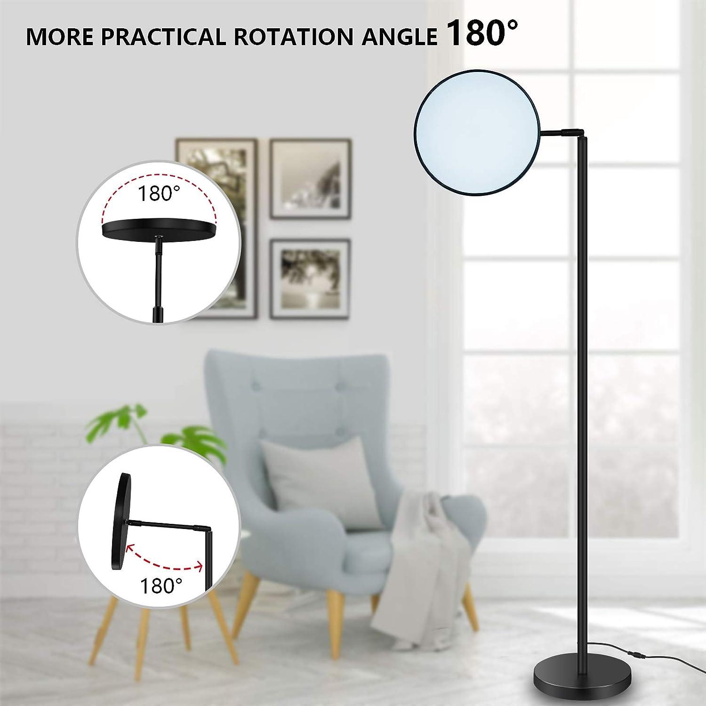 decoraci/ón para sal/ón ANTING L/ámpara de pie regulable LED control t/áctil oficina moderno giratoria RGB dormitorio negro minimalista 25 W 3 temperaturas de color
