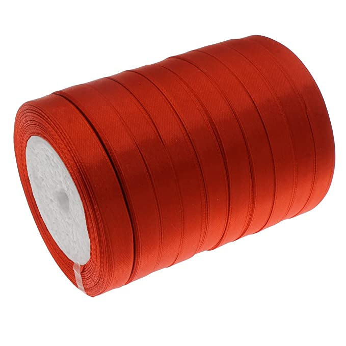 Perlin Satinband (Doppelsatinband) 22 m x 10mm Rot Schleifenband DEKOBAND GESCHENKBAND SCHMUCKBAND C273