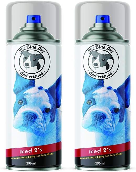 The Blue Dog & Friends 4 Pack – Iced 2s – Poop Freeze – Congelación de residuos de Mascotas – Spray congelado – Caca congelada: Amazon.es: Productos para mascotas