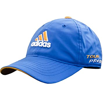 879304cbfb1 adidas 2015 Climacool Tour Preferred Hat FlexFit Lightweight Mens Golf Cap  Bahia Blue Large XL