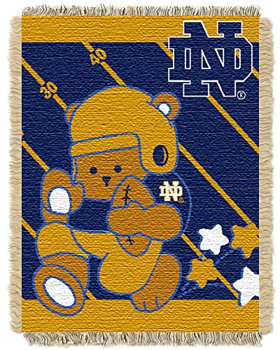 Notre Dame OFFICIAL Collegiate, Fullback Baby 36 x 46 Triple Woven Jacquard Throw