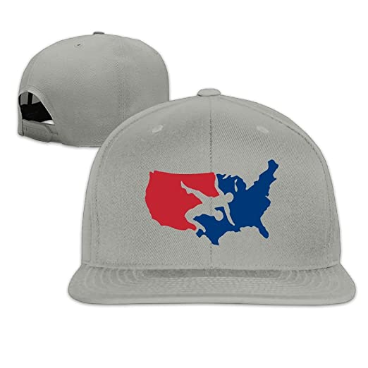 3e2aba7feef Image Unavailable. Image not available for. Color  FeiTian USA Wrestling  Logo Dad Snapback Hats ...