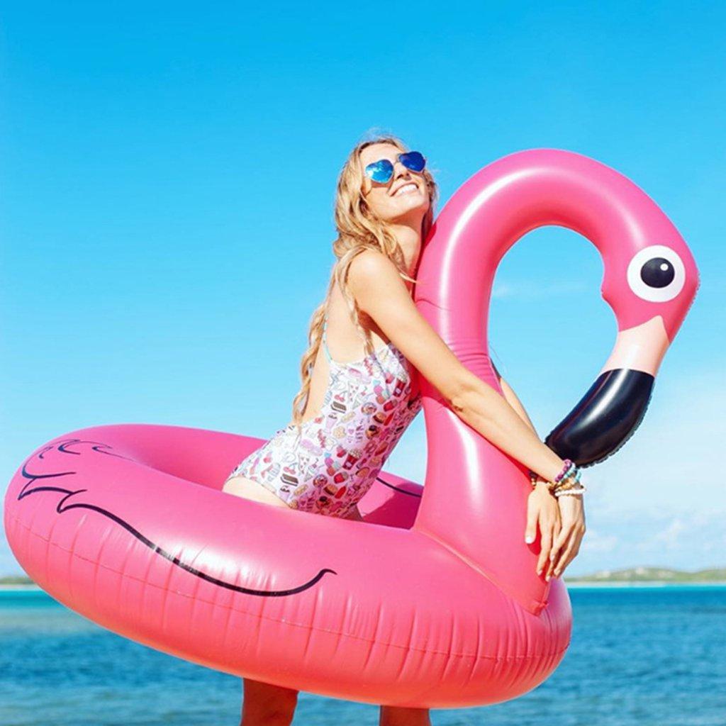 TGDY Balsa Inflable del Flotador De La Piscina del Flamenco DE 47 Pulgadas Gran Piscina Al Aire Libre Juguete del Salón Floatie para Adultos Y Niños Bonus ...