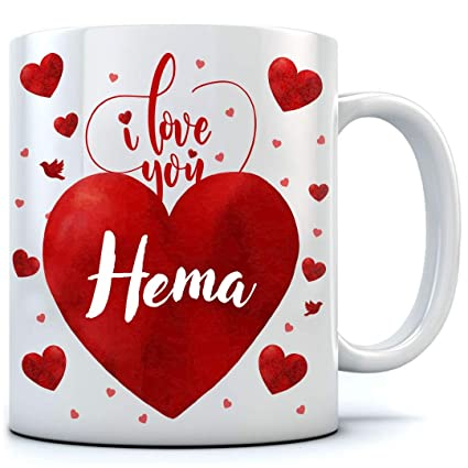 Buy Love You Hema Coffee Mug, for Valentine Day, Birthday