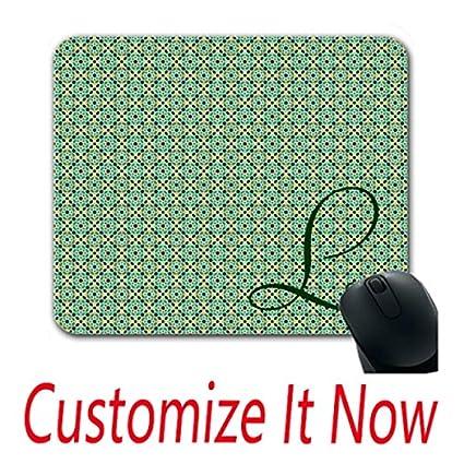 amazon com monograma custom mouse mats initial custom design pro