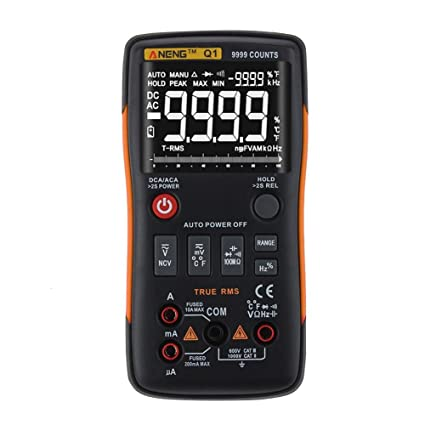 Everpert ANENG Q1 True-RMS Digital Multimeter Button 9999 Counts with Analog Bar