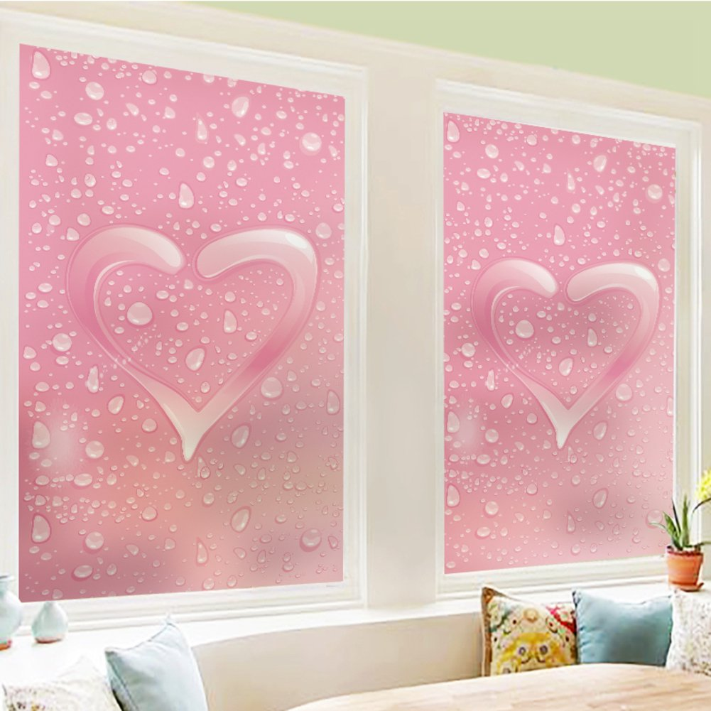 YQ WHJB Decorative window films cover,No glue static film,Frosted Privacy film,Glass Sliding door Reusable Window decal Sticker-A 60x88cm(24x35inch)
