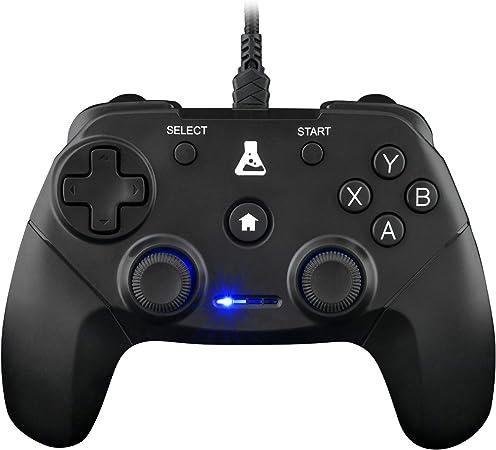 Todo para el streamer: THE G-LAB K-Pad Thorium Mando Gaming PC & PS3 con USB - Vibración Incorporada - Joystick para PC con Windows XP-7-8-10, PS3, Android (Negro)