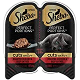 Sheba Perfect Portions Wet Cat Food Roasted Chicken & Beef Entrée In Gravy, (24) 2.6 Ounce Twin-Pack Trays Larger Image