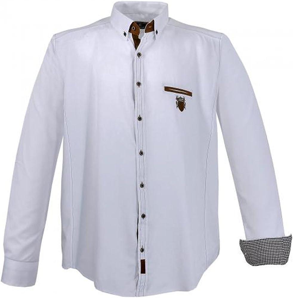 Lavecchia - Camisa Casual - para Hombre Weiß XXXXXXL: Amazon.es: Ropa y accesorios