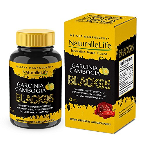 Garcinia Cambogia Black 95% HCA Pure Extract with Chromium. Fast Acting Appetite Suppressant, Extreme Carb Blocker & Fat Burner Supplement for Weight Loss & Best Garcinia Product