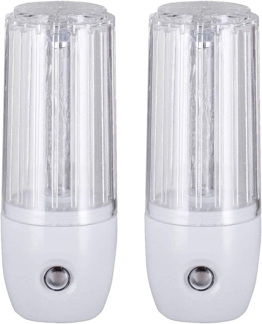 Maximm LED Plug-in Night Light with Auto Dusk to Dawn Sensor,UL Warm White, [2 Pack], Indoor Light Bathroom, Hallway, Stairs, Pantry, Laundry Room and Walk-in Closet Compact and Energy Efficient
