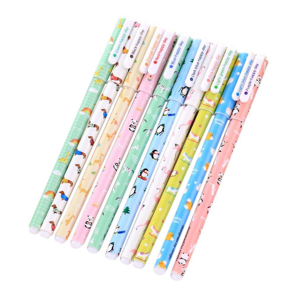 aikesi penna gel di plastica kawaii di pascolo coreano Nero Penna Di Cancelleria di ufficio di penna di ricambio 10 venden uno (6 #)