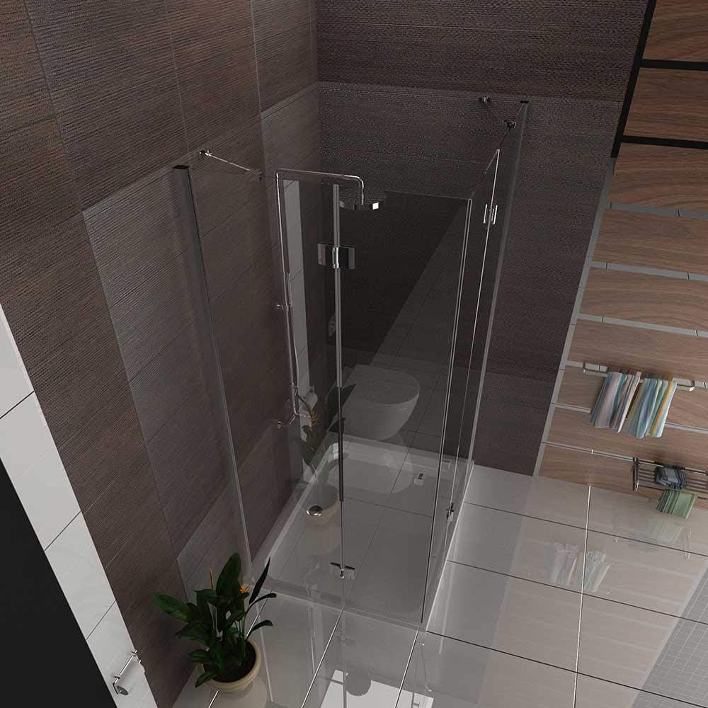 Cabina de ducha esquina. Ducha Incluye Nano Mampara de ducha ...