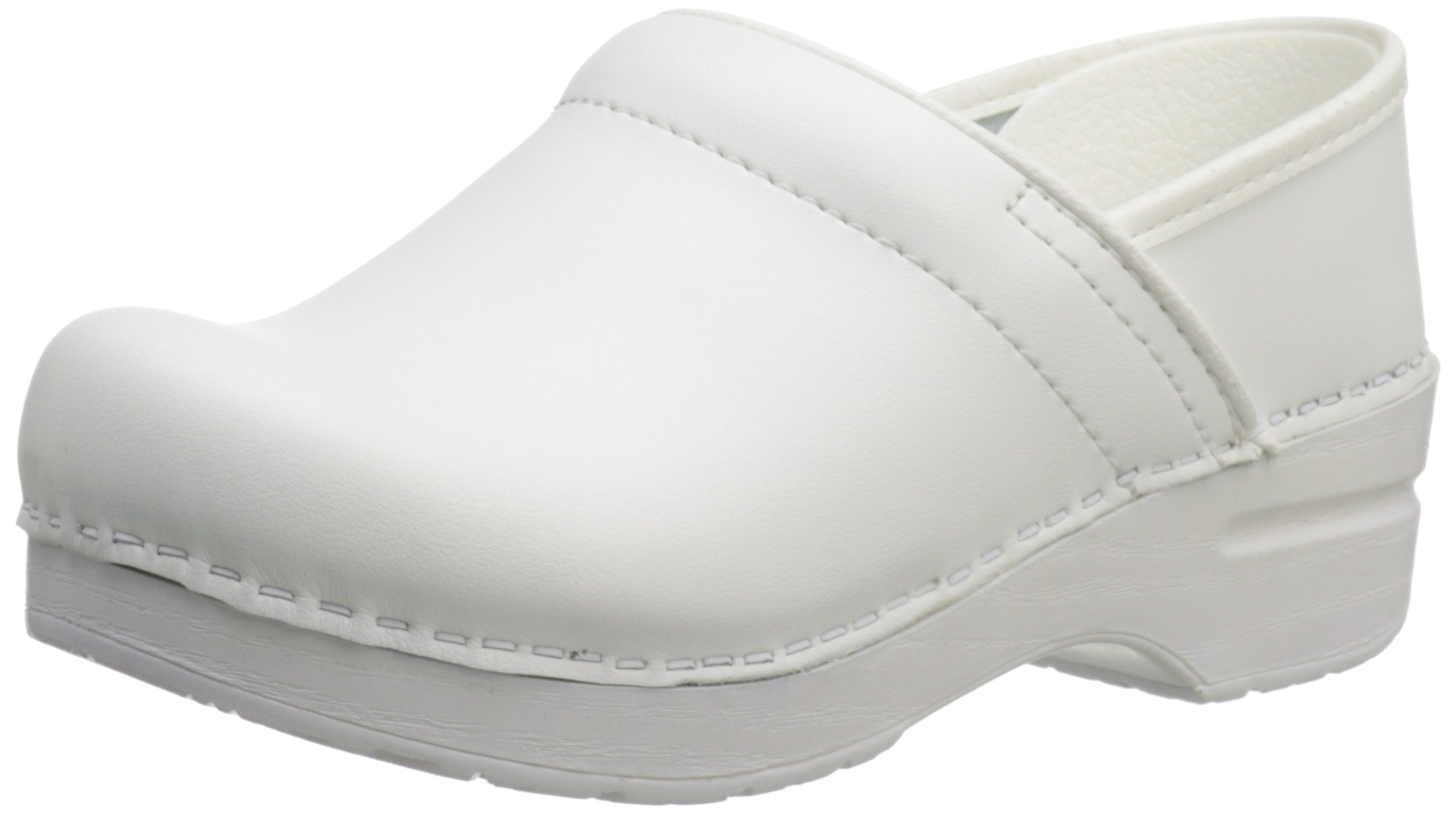 Dansko Women's Wide Pro Clog,White,37 EU/7 W US by Dansko