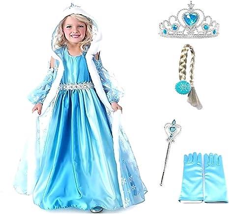 Disfraz de Elsa frozen - capucha - corona - varita - halloween ...