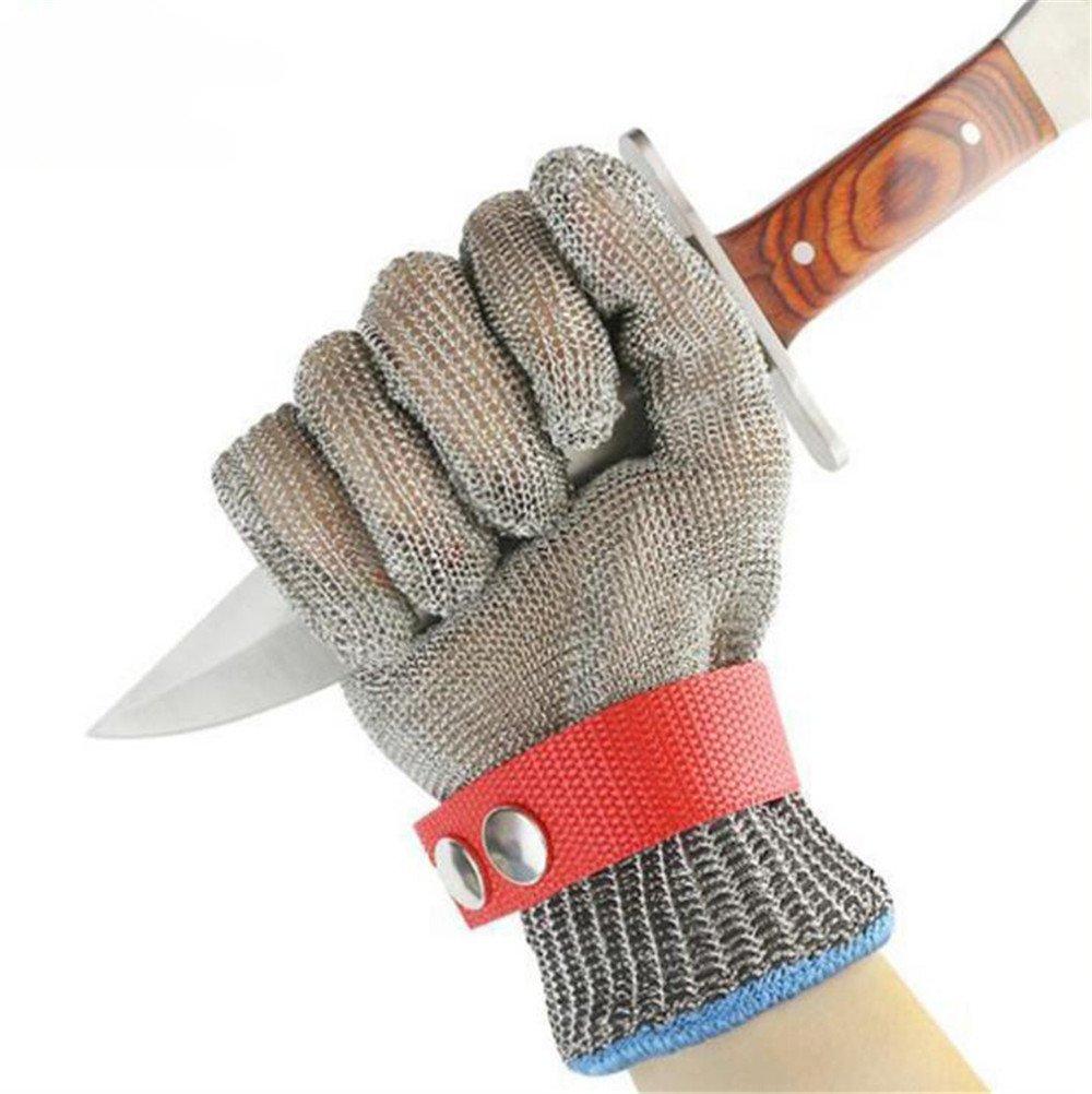 Draht-Handschuhe, Edelstahl-Materialien, Cut-Proof Metall-Handschuhe Mit Schnalle, Verhindert Effektiv Die Hä nde Geschnitten Werden, Linke Hand Rechte Hand Universal wexe.com