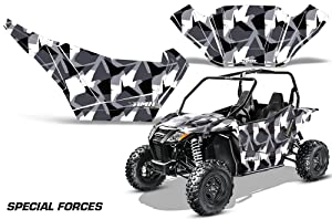 AMRRACING Arctic Cat Wildcat Sport Limited Full Custom UTV Graphics Decal Kit Special Forces Silver