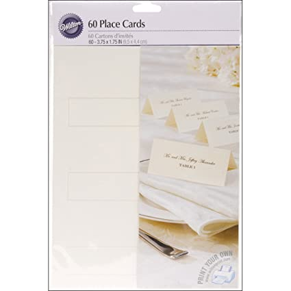 Amazon.com: Wilton Ivory Place Cards: Place Card Holders: Kitchen ...