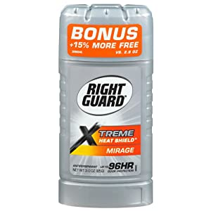 Right Guard Xtreme Heat Shield Antiperspirant & Deodorant, Mirage 2.6 oz ( Pack of 6)