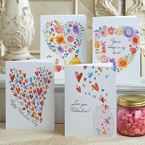 (Paintbox Valentine Cards - Set of 8 (4 designs) )
